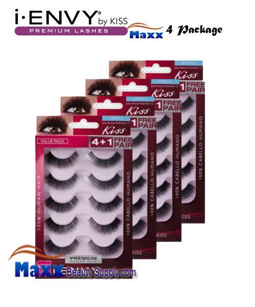 4 Package - Kiss i Envy Multi Pack Juicy Volume 02 Eyelashes - KPEM13