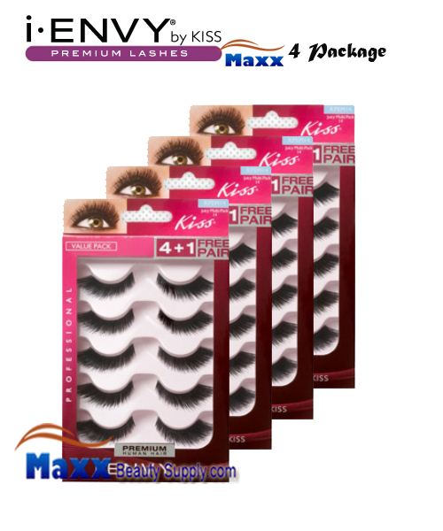 4 Package - Kiss i Envy Multi Pack Juicy Volume 03 Eyelashes - KPEM14