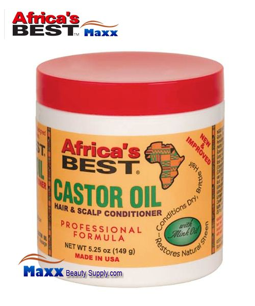 Africa's Best Castor Oil Hair & Scalp Conditioner with Mink Oil 5.25oz