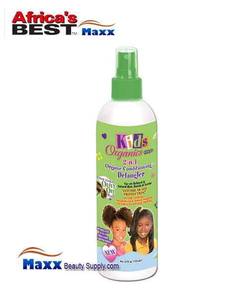 Africa's Best Kids Organics 2 n 1 Organic Conditioning Detangler 12 oz