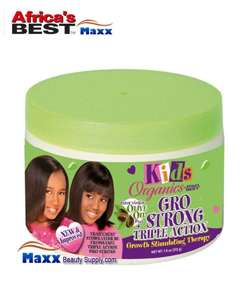 Africa's Best Kids Organics Gro Strong Triple Action Growth Stimulating Therapy 7.5oz