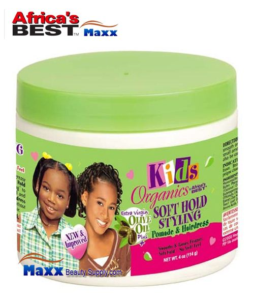 Africa's Best Kids Organics Soft Hold Styling Pomade & Hairdress 4oz