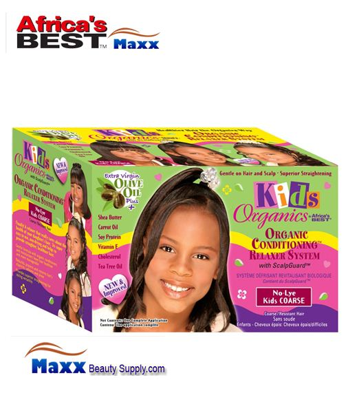 Africa's Best Kids Organics No-Lye Organic Conditioning Relaxer 1App Kit - Coarse