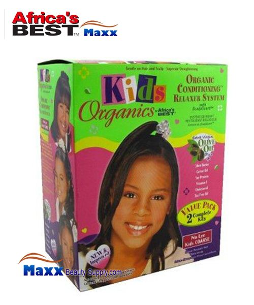 Africa's Best Kids Organics No-Lye Organic Conditioning Relaxer 2App Kit - Coarse