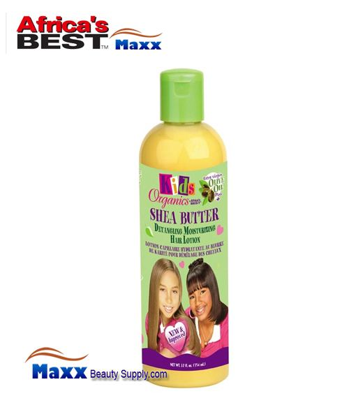 Africa's Best Kids Organics Shea Butter Detangling Moisturizing Hair Lotion 12oz