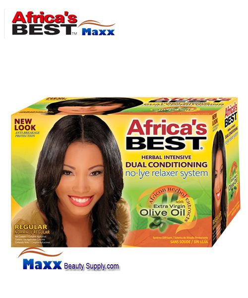 Africa's Best No-Lye Dual Conditioning Relaxer Kit - Regular