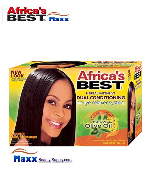 Africa's Best No-Lye Dual Conditioning Relaxer Kit - Super