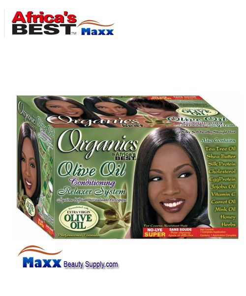 Africa's Best Organics Olive Oil No-Lye Conditioning Relaxer 1 App Kit - Super