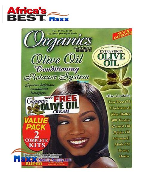 Africa's Best Organics Olive Oil No-Lye Conditioning Relaxer 2 App Kit - Super