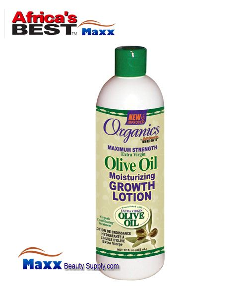 Africa's Best Organics Olive Oil Extra Virgin Moisturizing Growth Lotion 12oz