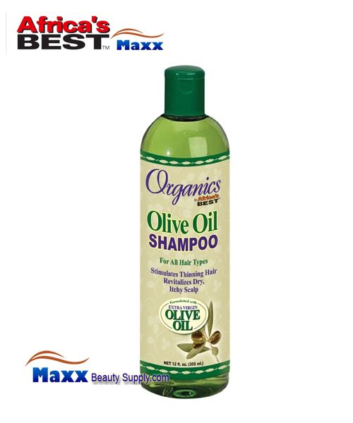 Africa's Best Organics Olive Oil Oil Shampoo for All Hair Types 12oz