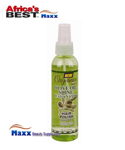 Africa's Best Organics Olive Oil Extra Virgin Shine Extra Virgin Hair Polish Spray 6 oz