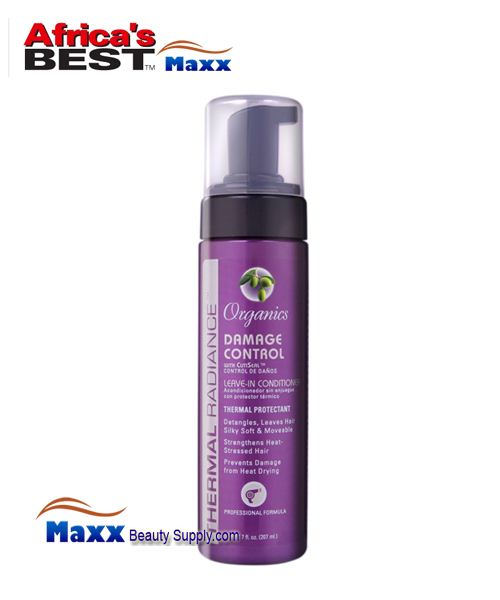 Africa's Best Thermal Radiance Organics Leave-In Conditioner - Damage Control 7oz