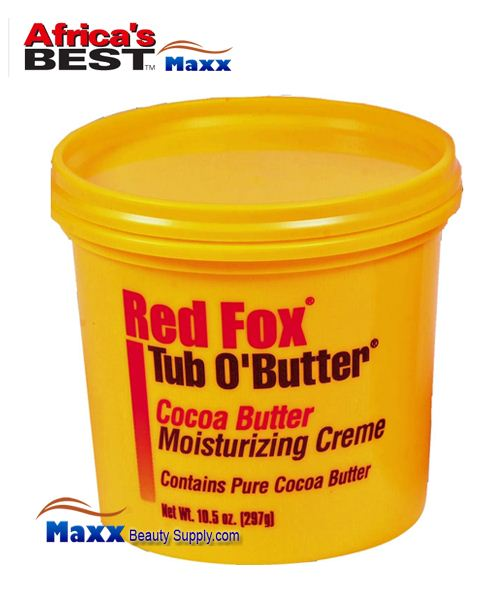 Africa's Best Red Fox Tub O'Butter Cocoa Butter Moisturizing Creme 10.5oz