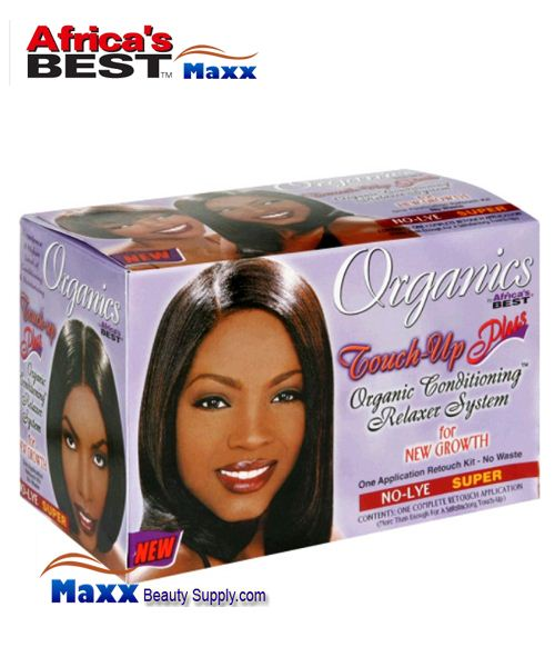 Africa's Best Organics Touch-Up Plus Organic Conditioning Relaxer System Kit - Super