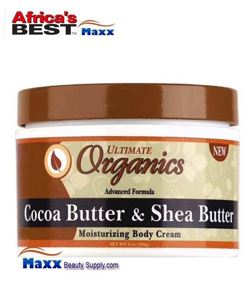 Africa's Best Ultimate Organics Cocoa Butter & Shea Butter Cream 8oz
