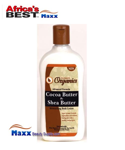 Africa's Best Ultimate Organics Cocoa Butter & Shea Butter Body Lotion 12 oz.