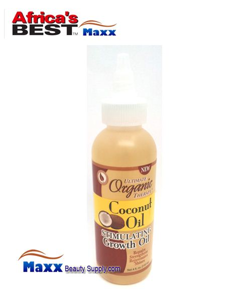 Africa's Best Ultimate Organics Therapy Stimulating Growth Oil 4oz - Coconut Oil