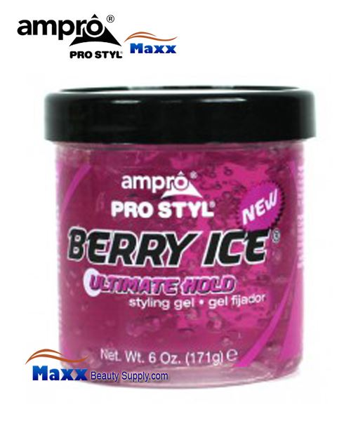 Ampro Pro Styl Styling Gel 06oz - Berry Ice Ultimate Hold(Pink Jar)