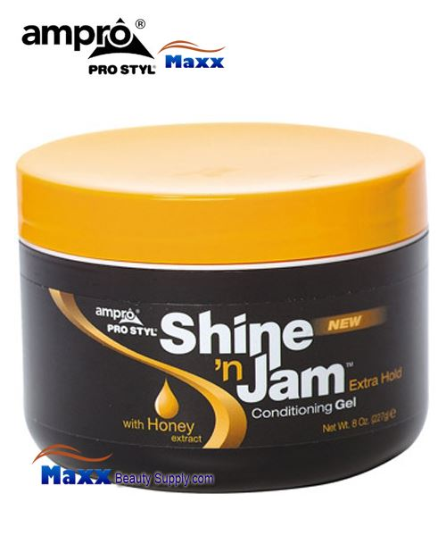 Ampro Pro Styl Shine 'n Jam Conditioning Gel 8oz - Extra Hold