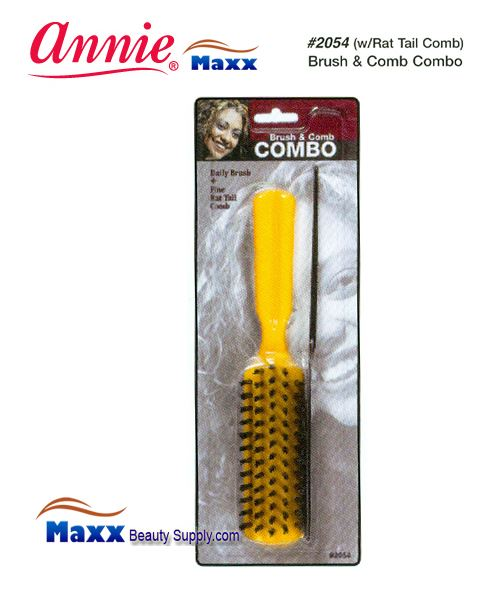 Annie Brush 2054 Brush & Comb Combo w/Rat Tail Comb