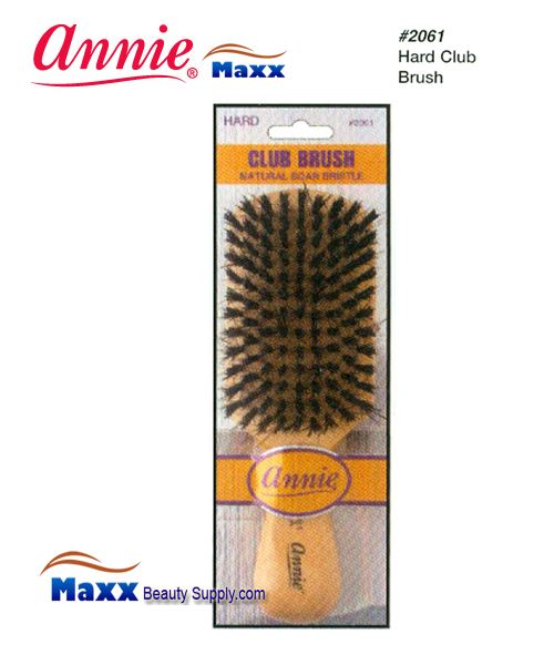 Annie Brush 2061 Club Brush Natural Boar Bristle Brush - Hard