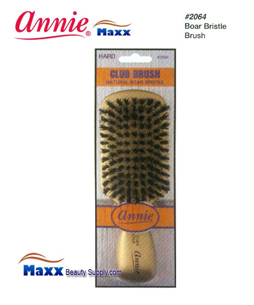 Annie Brush 2064 Club Brush Natural Boar Bristle Brush - Hard
