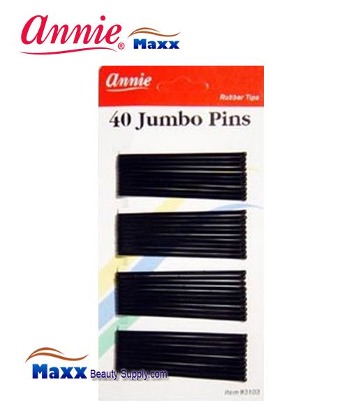 "Annie Pin 3103 40 Jumb Pins 2 3/4"" 40ct - Black"