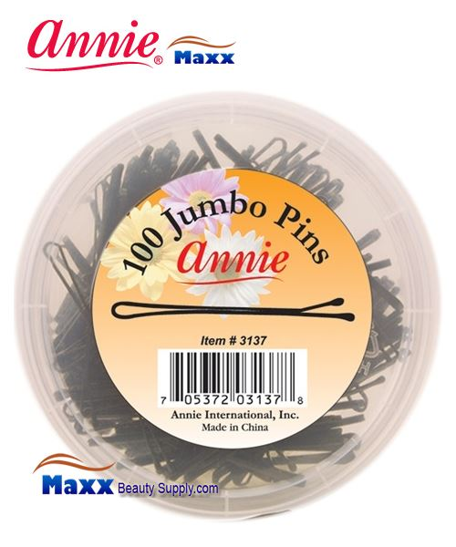 "Annie Pin 3137 Jumb Pins 2 3/4"" 100ct - Black(Jar)"