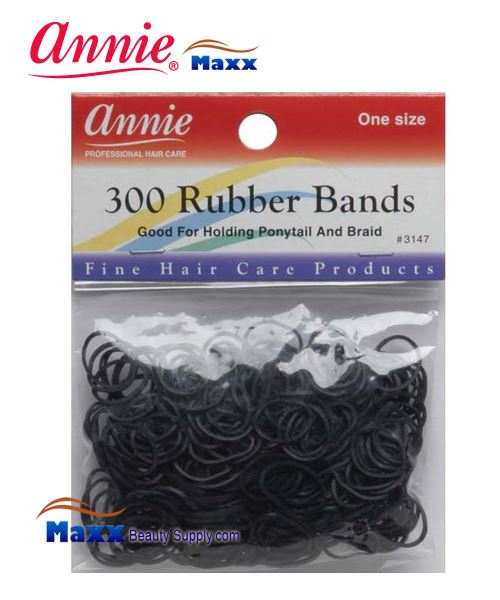 Annie Band 3147 300 Rubber Bands 300ct Medium - Black