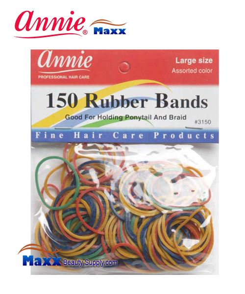 Annie Band 3150 150 Rubber Bands 150ct Large - Assort Color