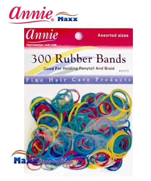Annie Band 3153 300 Rubber Bands 300ct - Assort Color