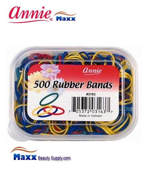 Annie Band 3163 500 Rubber Bands 500ct - Assort Color