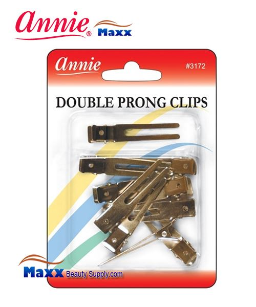 Annie Clips 3172 Double Prong Clips(10ct)