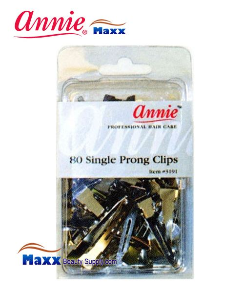 Annie Clips 3191 Single Prong Clips(80ct)