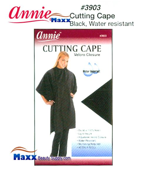 Annie 3903 Cutting Cape Velcro Closure - Black Color