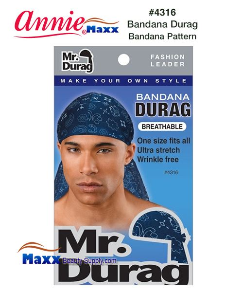 Annie MR Durag Bandana Patterned - 4316