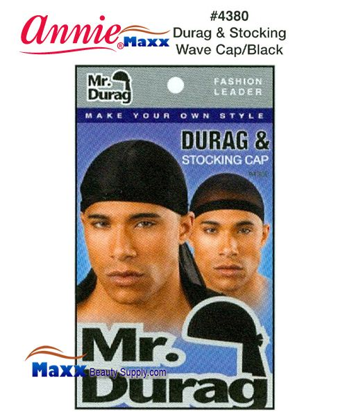 Annie MR Durag & Stocking Wave Cap - 4380(Black)