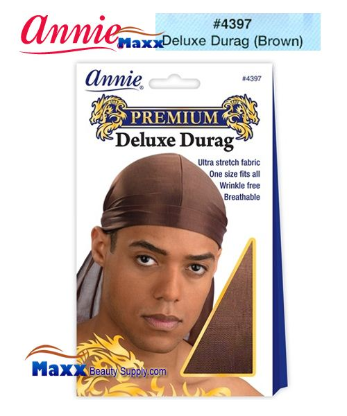 Annie Premium Deluxe Men #4397 Durag - Brown