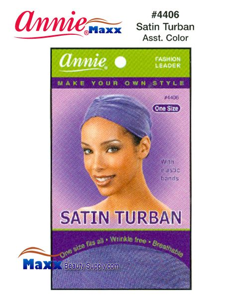 Annie Satin Turban - 4406(Assorted Colors)
