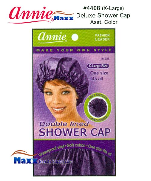 Annie Shower Cap - Deluxe Double Lined - 4408(Assorted Colors)