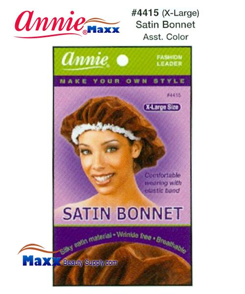 Annie Satin Bonnet X-Large - 4415(Assorted Color)