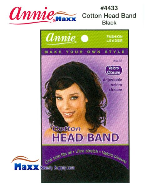 Annie Head Band - Cotton - 4433(Black)