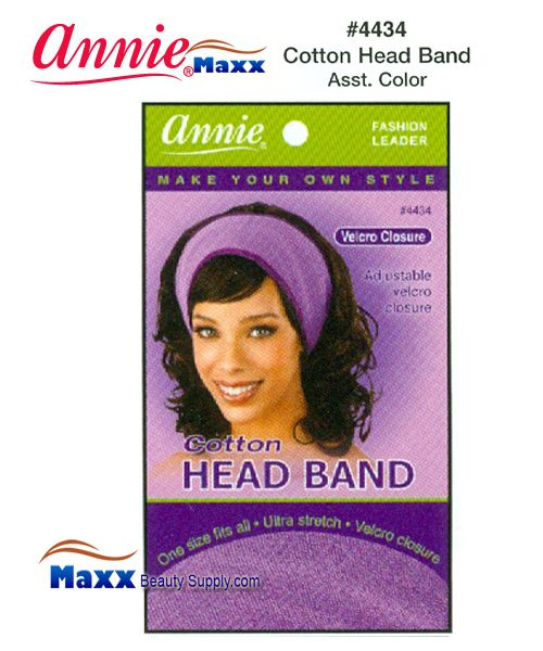 Annie Head Band - Cotton - 4434(Assorted Colors)