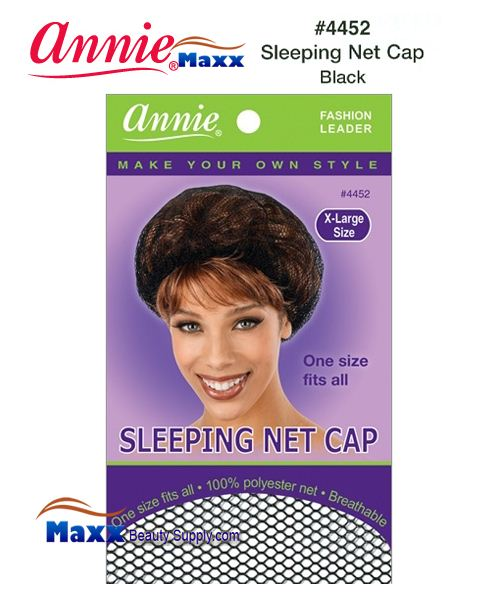 Annie Sleeping Net Cap - X-Large - 4452(Black)