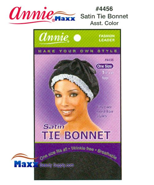 Annie Satin Tie Bonnet One Size - 4456(Assorted Color)