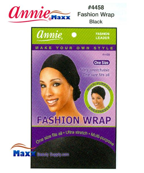 Annie Fashion Head Wrap - 4458(Black)