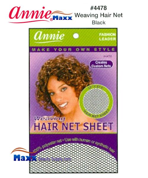 Annie Hair Net Sheet - Weaving hair Net Sheet - 4478(Black)