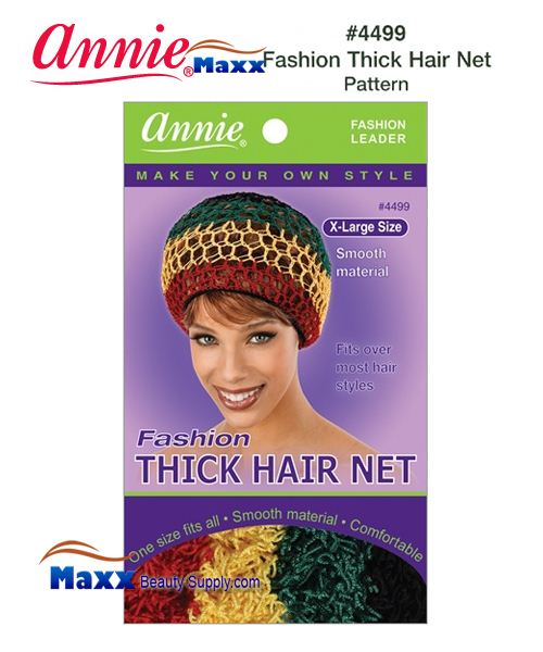 Annie Hair Net - Fashion Thick Hair Net - 4499(Pattern)