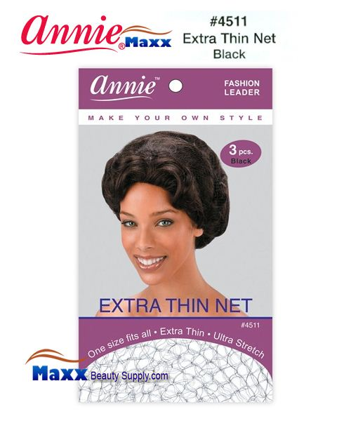 Annie Hair Net - Extra Thin Net - 4511(Black)